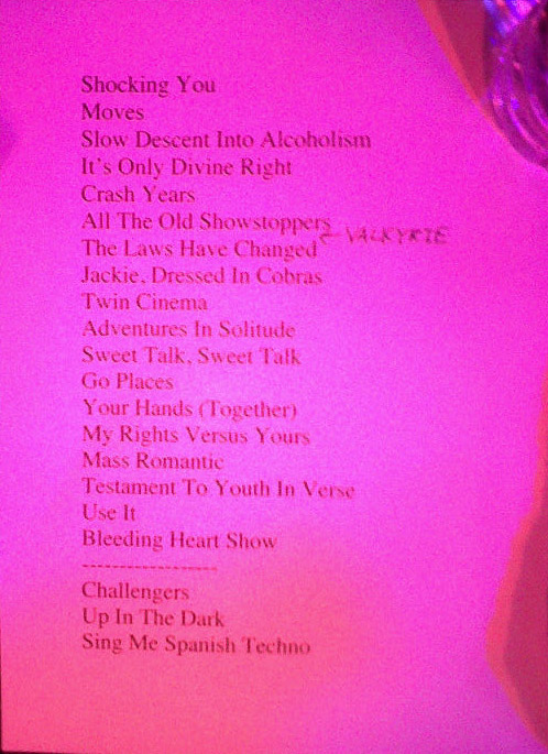 New Pornographers setlist from The Waiting Room, Omaha, NE 4/21/11