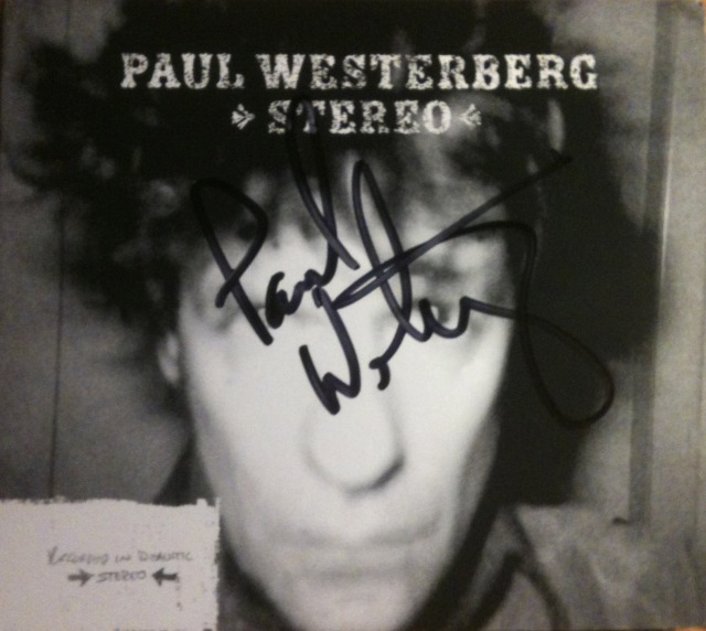 "This is a picture of my copy of ""Stereo"" by Paul Westerberg that I got autographed back in 2002 when I saw him at the Grand Emporium in Kansas City."