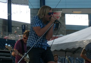 Aaron Bruno of Awolnation at Buzz Beachball in Kansas City, KS on 8-19-11.