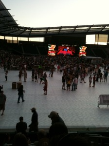 Here is a picture of Farm Aid 26 from the back of the soccer stadium where it was held.