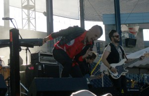 Tyler Glenn of Neon Trees at Buzz Beachball in Kansas City, KS on 8-19-11.