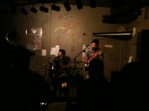 The Factory Workers on stage at the Cafe Acoustic on October 14th, 2011.