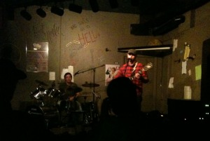 The Gas Town Lamps on stage at the Cafe Acoustic on October 14th, 2011.