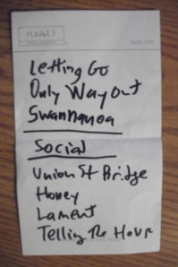 Mount Moriah setlist from The Record Bar in Kansas City, MO 2/11/12