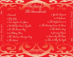 Best Of The Decemberists back insert