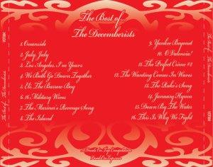 Best Of The Decemberists back insert