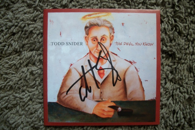 Todd Snider signed The Devil You Know booklet