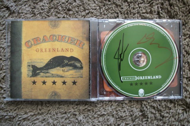 Cracker autographed Greenland cd