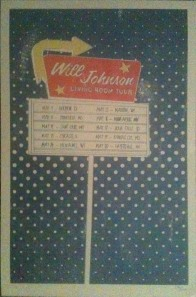 Will Johnson 2012 Living Room Tour poster