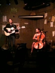 Ashley Raines performing at the Cafe Acoustic in St. Joseph, MO.