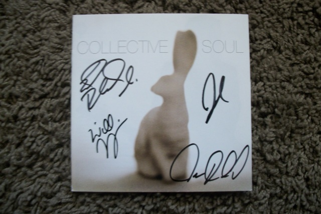 Collective Soul autographed cd booklet
