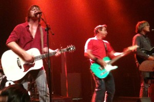 The Old 97's perform their set at The Slowdown in Omaha, NE on 9/11/12. Left to right: Rhett Miller, Ken Bethea and Murry Hammond.