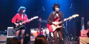 Those Darlins performs their solo set at The Slowdown in Omaha, NE on 9/11/12. Nikki Darlin on the left and Jessi Darlin on the right.