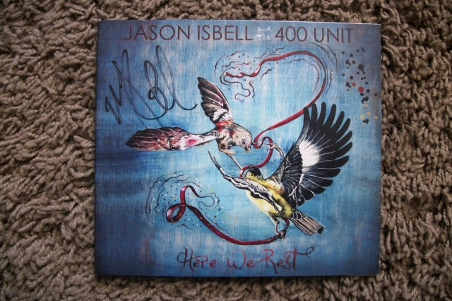 Jason Isbell signed Here We Rest cd