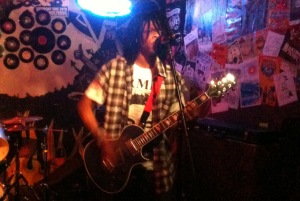 Radkey lead singer and lead guitarist Dee Radkey plays live at The Rendezvous Bar on 10/26/12.