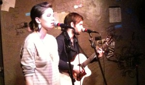 Eyelit performing at the Cafe Acoustic in St. Joseph, MO on 11/15/12.