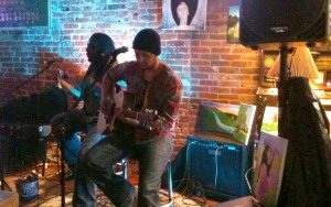 Aaron Blumer performing at The First Ward on 12/23/12.