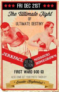Missouri Homegrown / Jerkface concert poster.