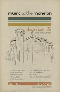 The Poster for Music at the Mansion at the Wyeth-Tootle Mansion in St. Joseph, MO.