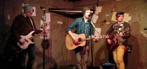A Greater Tomorrow unplugs for a show at The Cafe Acoustic in St. Joseph, MO on 1/18/13.