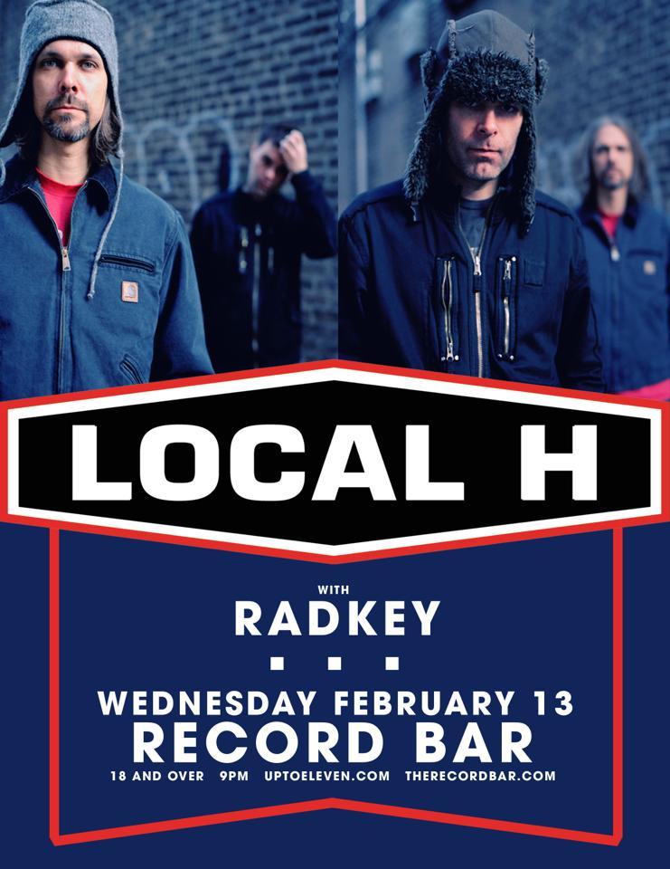 Local H And Radkey Record Bar Poster