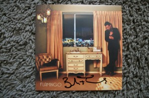 Brandon Flowers of the Killer autographed cd booklet.