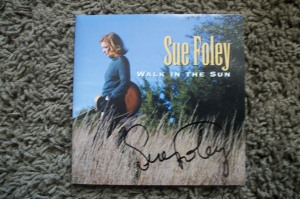 Sue Foley autographed cd booklet.