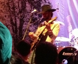 Ryan Bingham plays with a full band during his Lawrence, Kansas show at The Granada on 3/15/13.