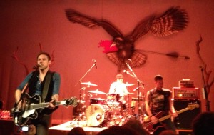 The Airborne Toxic Event plays to a young, eager crowd at Liberty Hall in Lawrence, Kansas on 4/24/13.