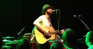 Langhorne Slim serenades the crowd during one of his slower numbers late in the set.