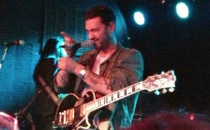 Hanni El Khatib gestures to fans at The Riot Room in Kansas City, Missouri on 5/9/13.
