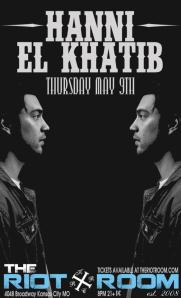 Hanni El Khatib poster for The Riot Room in Kansas City, MO 5/9/13.
