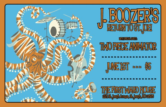 J. Boozer at First Ward in St. Joseph, Mo poster