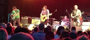 Ken Bethea, Rhett Miller, Philip Peeples and Murray Hammond on stage as The Old 97's at The Crossroads in Kansas City, Missouri on 5/25/13.