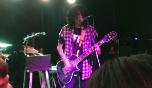 Radkey continues to kick open doors so hard they tear the hinges off. Lead singer Dee Radke (above) playing at The Riot Room opening for Hanni El Khatib.