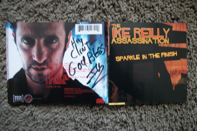 Ike Reilly signed Sparkle In The Finish CD