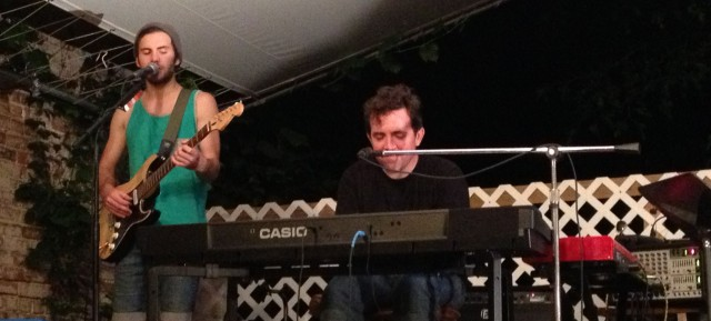 Austin Marks and Andy Grooms perform at The Bad Art Bistro in St. Joseph, Missouri on 7/5/13.