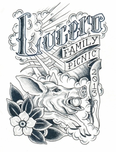 Lucero Family Picnic 2013 poster