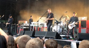 Queens of the Stone Age steal the show at Cricket Wireless Amphitheater in Bonner Springs, KS on 8/3/13.