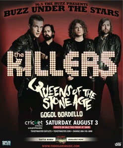The Killers and Queens of the Stone Age Buzz Under The Stars poster