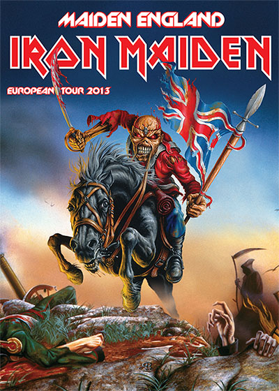 The Maiden England world tour poster.
