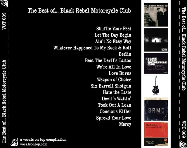 The best of... Black Rebel Motorcycle Club back u card