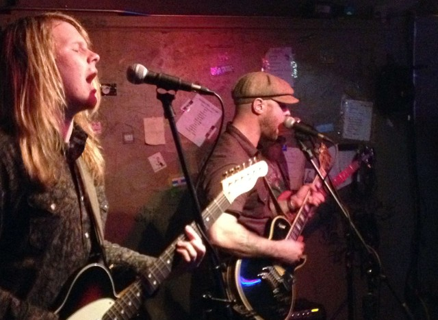 New GasTown Lamps member Teriq Newton (left) joins singer Todd Ward by playing lead guitar and singing background vocals.
