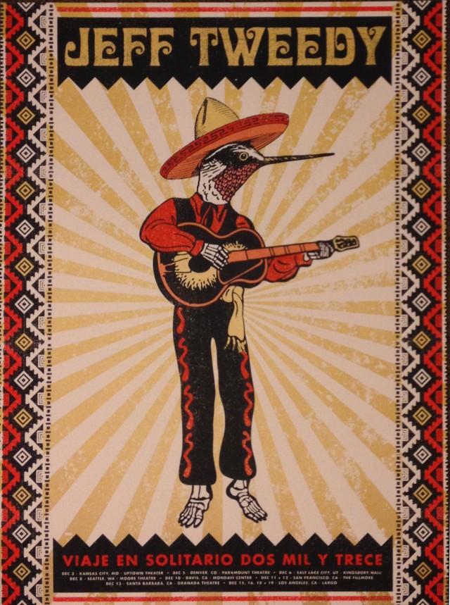 Jeff Tweedy Solo Trip 2013 poster
