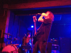 Local H's Ryan Harding (drums) and Scott Lucas perform at Mojo's in Columbia, Missouri on 2/22/14.