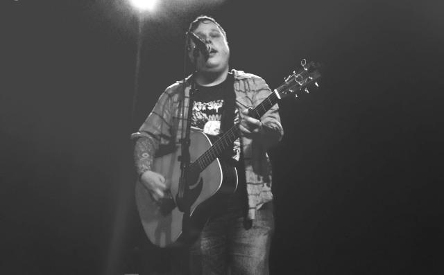 Austin Lucas opens for WIlliam Elliott Whitmore at The Waiting Room in Omaha, Nebraska on 4/12/14.