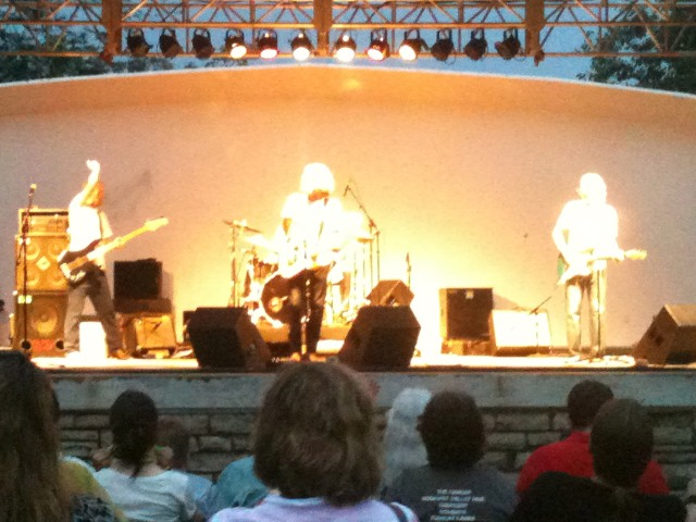 The Crickets at Krug Park Amphitheater, before the mayhem was unleashed.