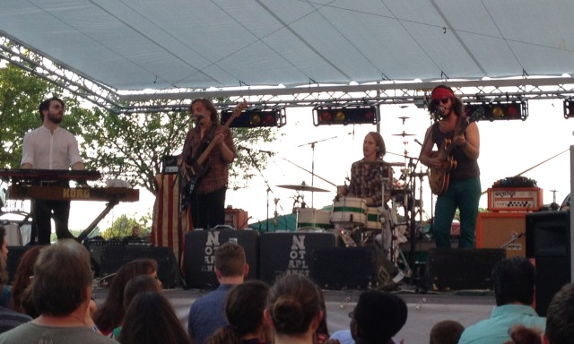 Not A Planet plays live in Leawood, Kansas for the Sunset Music Fest.