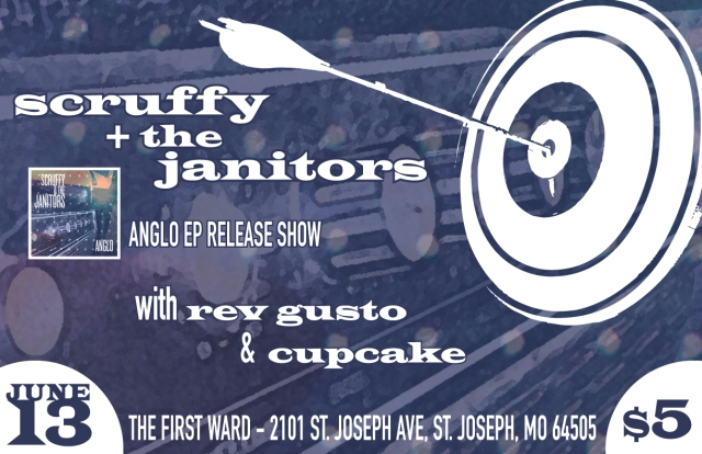 Scruffy & The Janitors, Rev Gusto and Cupcake First Ward poster