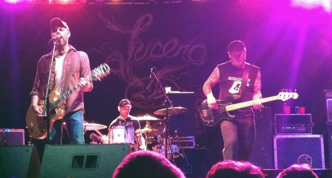 Lucero busts through a mammoth 28 song set without guitarist Ben Venable at The Crossroads in Kansas City, Missouri on 7/15/14.